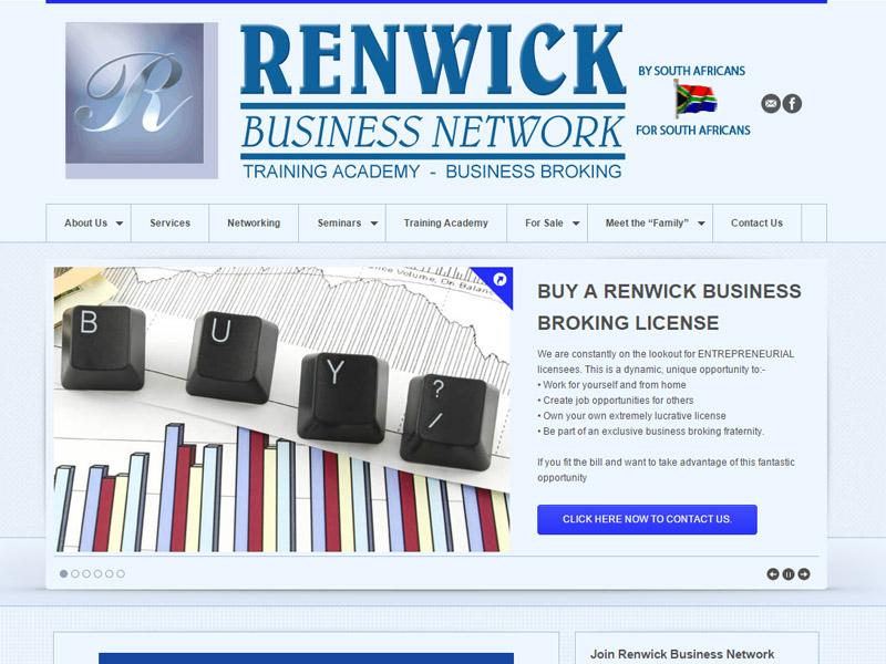 Renwick Business Network Website Design CMS