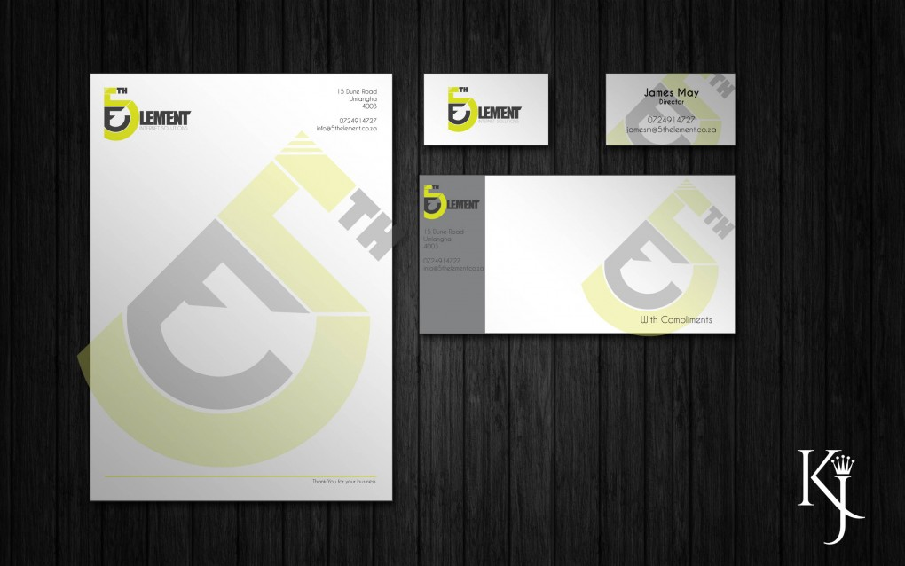 5th Element Logo & Corporate Stationary Design